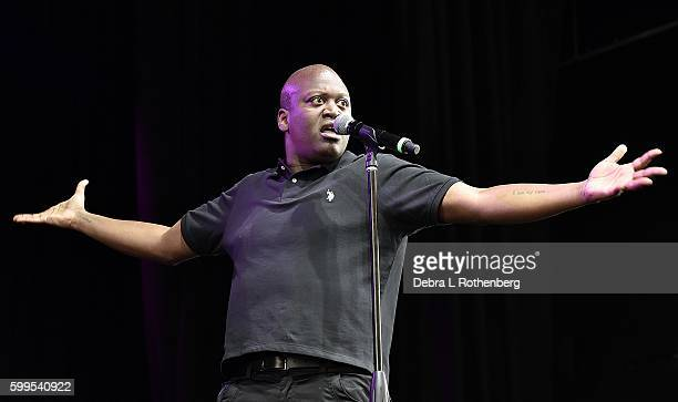 Tituss Burgess performs during the 2nd Annual Elsie Fest at Ford Amphitheater at Coney Island Boardwalk on September 5 2016 in Brooklyn New York