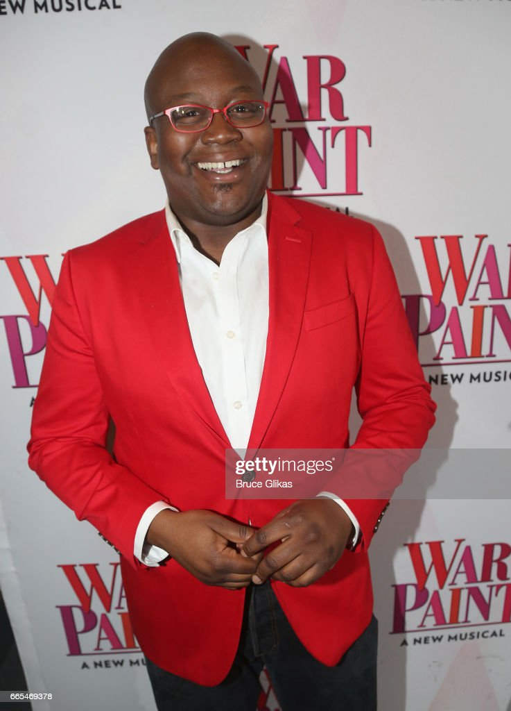 Tituss Burgess poses at the opening night of the new musical 'War Paint' on Broadway at The Nederlander Theatre on April 6, 2017 in New York City.
