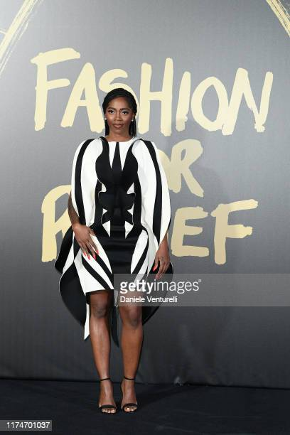 Tiwa Savage attends Fashion For Relief London 2019 at The British Museum on September 14 2019 in London England