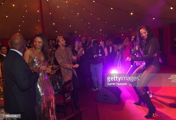 Tiwa Savage performs at the gala dinner in honour of Edward Enninful winner of the Global VOICES Award 2019 during #BoFVOICES on November 22 2019 in...