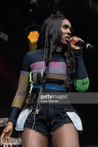 Tiwa Savage performs on stage during Wireless Festival 2019 on July 07 2019 in London England