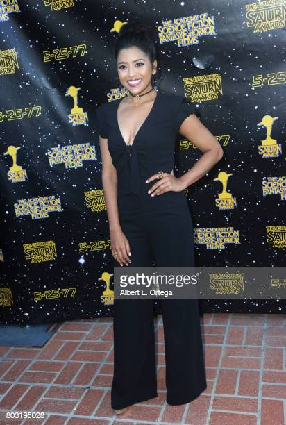 Tiya Sicar attends the 43rd Annual Saturn Awards at The Castaway on June 28, 2017 in Burbank, California.