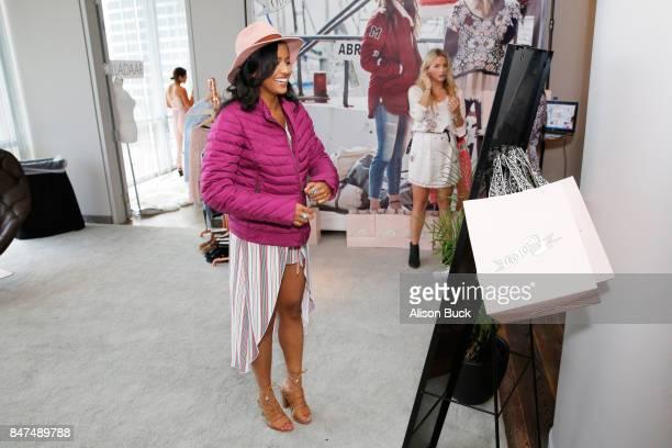 Tiya Sircar attends Kari Feinstein's Style Lounge presented by Ocean Spray at the Andaz Hotel on September 14 2017 in Los Angeles California