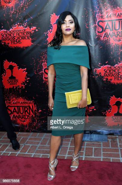 Tiya Sircar attends the Academy Of Science Fiction, Fantasy & Horror Films' 44th Annual Saturn Awards at The Castaway on June 27, 2018 in Burbank,...