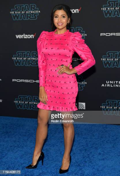 "Tiya Sircar attends the Premiere of Disney's ""Star Wars: The Rise Of Skywalker"" on December 16, 2019 in Hollywood, California."