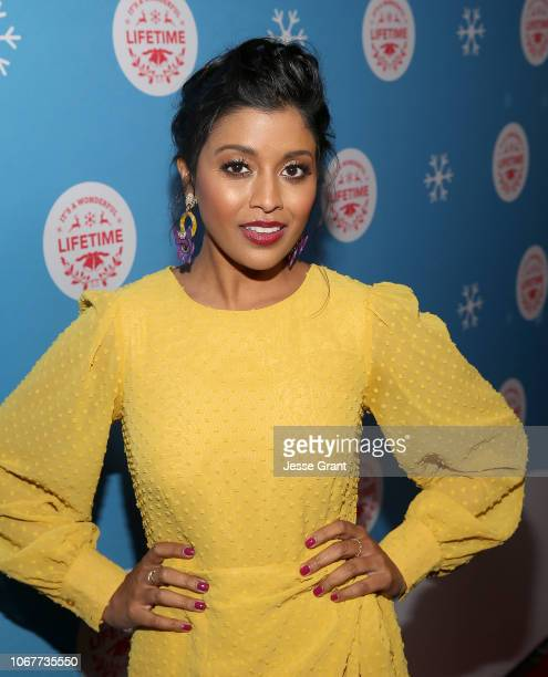 """Tiya Sircar attends The VIP opening night of the lifesized gingerbread house in celebration of """"It's A Wonderful Lifetime at The Grove on November 14..."""