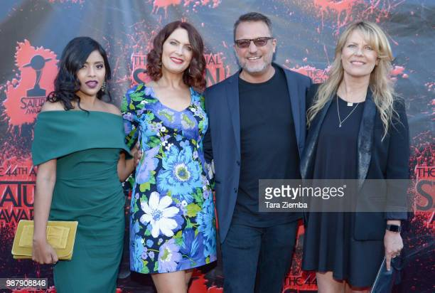 Tiya Sircar Vanessa Marshall Steven Blum and Maria Eckstein attend the Academy Of Science Fiction Fantasy Horror Films' 44th Annual Saturn Awards at...