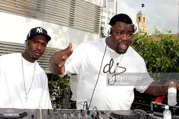 DJ Tiz and DJ Biz Markie during 2005 MTV VMA John Singelton Party Hosted by DJ Biz Markie and Snoop Dogg at Sanctuary Hotel in Miami Florida United...