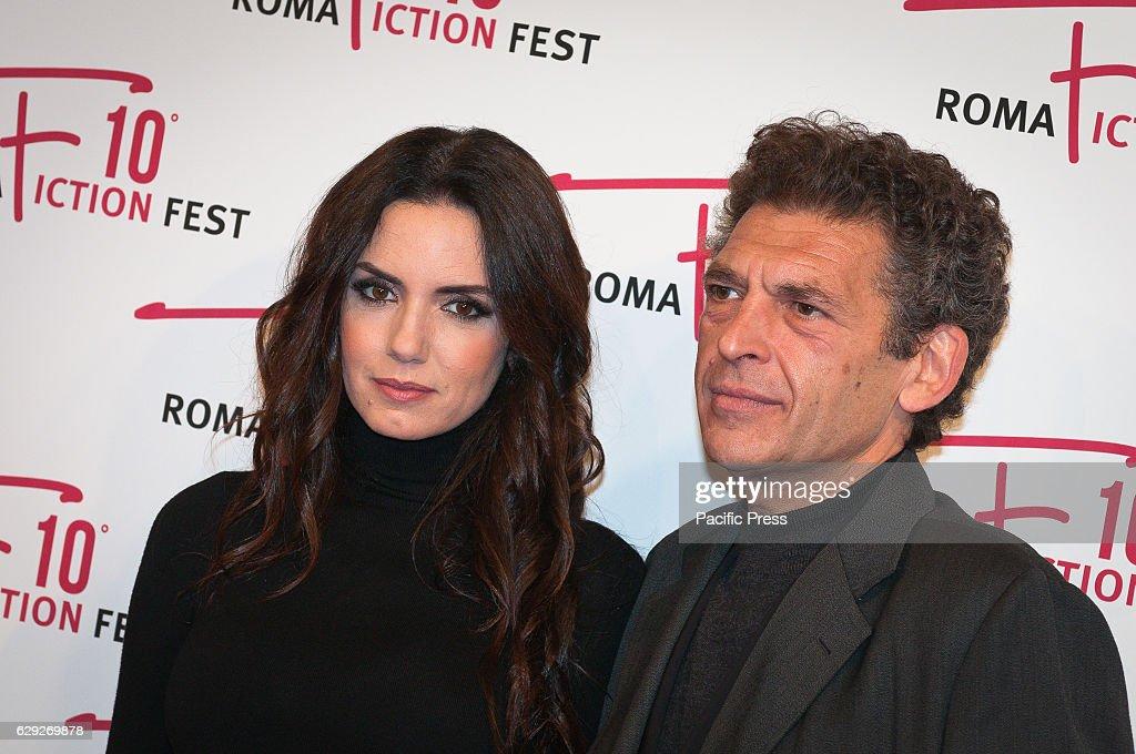 Tiziana Buldini and Ninni Bruschetta attends a red carpet... : Nachrichtenfoto