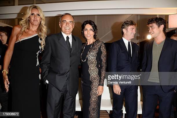 Tiziana Rocca, Alberto Barbera, Actress Sabrina Ferilli, Flavio Cattaneo and Riccardo Scamarcio attend Premio Kineo Ceremony during the 70th Venice...