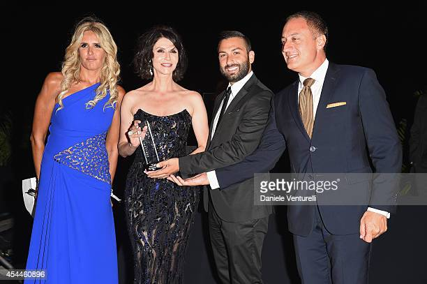Tiziana Rocca and Alessandra Martines and Ivan Gioia and guest attend the Kineo Award during the 71st Venice Film Festival on August 31 2014 in...