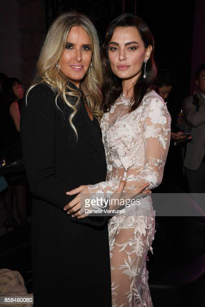 Tiziana Rocca and Catrinel Marlon attends Intimissimi On ice 2017 on October 6 2017 in Verona Italy