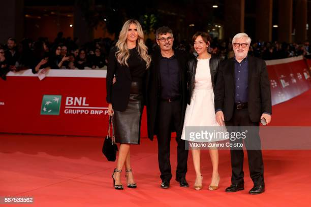Tiziana Rocca and Claudio Masenza Paolo Genovese and Federica Rizzo walk a red carpet for 'Stronger' during the 12th Rome Film Fest at Auditorium...