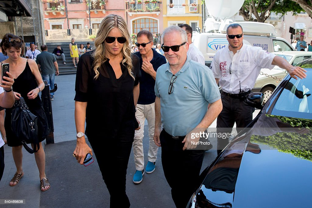 Tiziana Rocca and director of the Institut Lumire and of the Cannes Film Festival Thierry Frmaux attends 62 Taormina Film Fest - Day 5 on June 15, 2016 in Taormina, Italy.