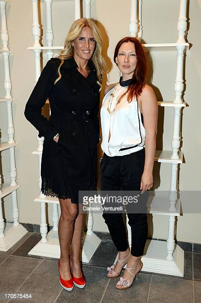 Tiziana Rocca and Elena Romanova attend Sicily Outlet Village Taormina Filmfest Dinner Taormina Filmfest 2013 at Sicily Outlet Village on June 14...