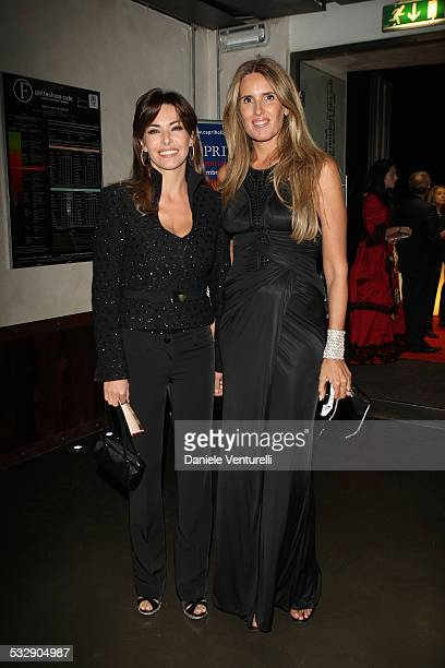 Tiziana Rocca and Emanuela Folliero attend the Capri Hollywood Film Festival Milan Dinner Party at Old Fashion Cafe on October 13 2008 in Milan Italy