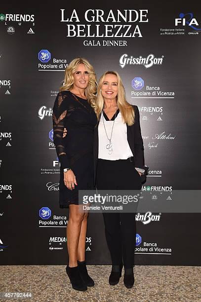 Tiziana Rocca and Gloria Guida attend the Gala Dinner 'La Grande Bellezza' during the 9th Rome Film Festival on October 24 2014 in Rome Italy