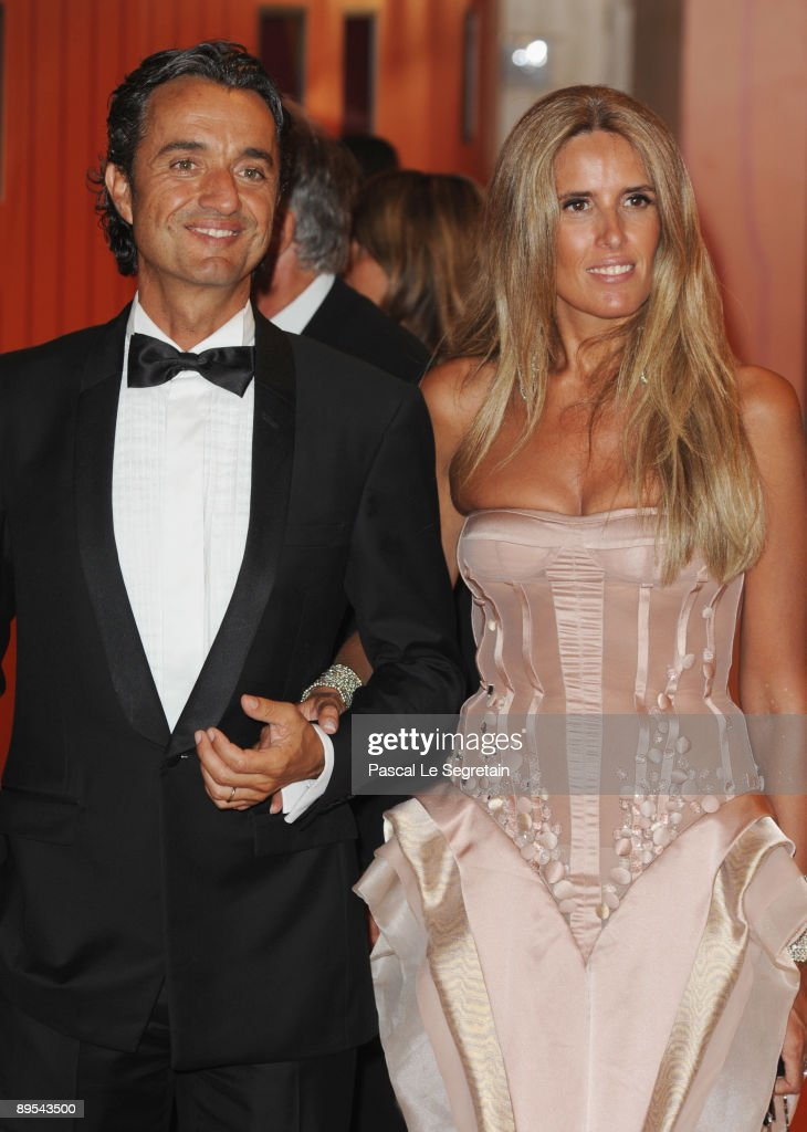 Tiziana Rocca and Julio Base attend the 61st Monaco Red Cross Ball at the Monte Carlo Sporting Club on July 31, 2009 in Monte Carlo, Monaco.