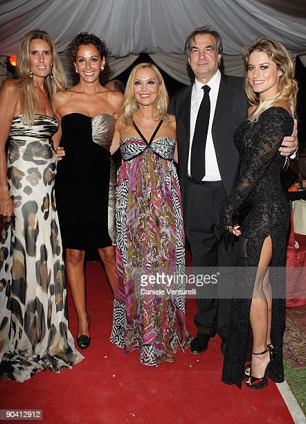 Tiziana Rocca, Anna Kanakis, Silvana Giacobini, Mauro Pizzigati and Lola Ponce attend the Diva E Donna Magazine Party at the Casino during the 66th...