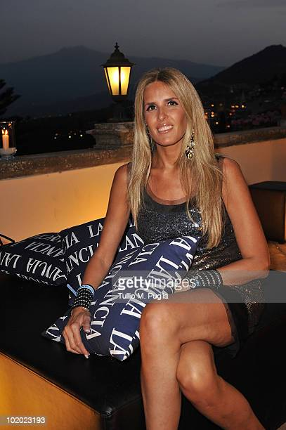 Tiziana Rocca attends a party at Lancia Cafe during the Taormina Film Fest on June 12 2010 in Taormina Italy