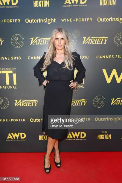 Tiziana Rocca attends as WIFT International with Variety Alliance of Women Directors host a cocktail party during the 71st Cannes Film Festival...