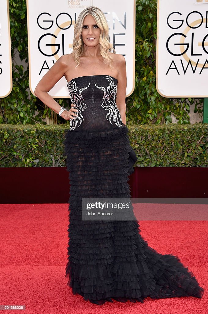 Tiziana Rocca attends the 73rd Annual Golden Globe Awards held at the Beverly Hilton Hotel on January 10, 2016 in Beverly Hills, California.