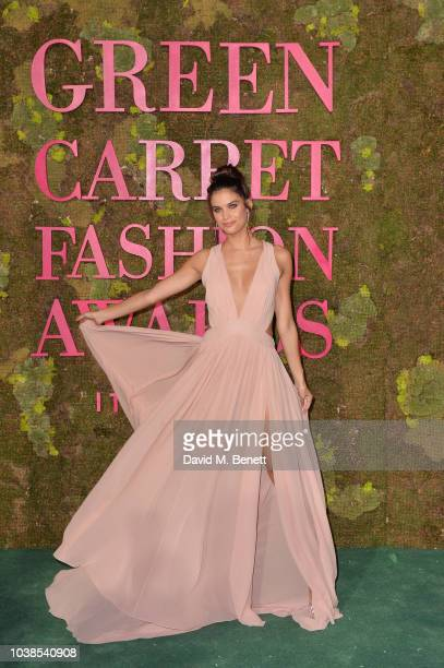 Tiziana Rocca attends The Green Carpet Fashion Awards Italia 2018 at Teatro Alla Scala on September 23 2018 in Milan Italy