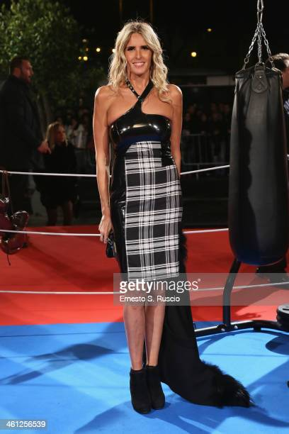 Tiziana Rocca attends the 'Grudge Match' premiere at The Space Moderno on January 7 2014 in Rome Italy