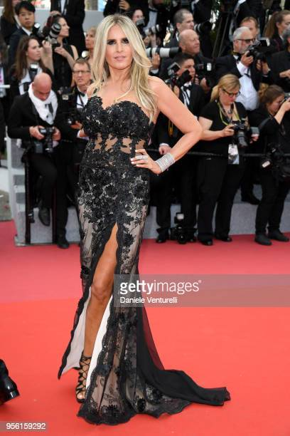 Tiziana Rocca attends the screening of Everybody Knows and the opening gala during the 71st annual Cannes Film Festival at Palais des Festivals on...