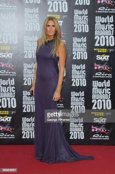 Tiziana Rocca attends the World Music Awards 2010 at the Sporting Club on May 18, 2010 in Monte Carlo, Monaco.
