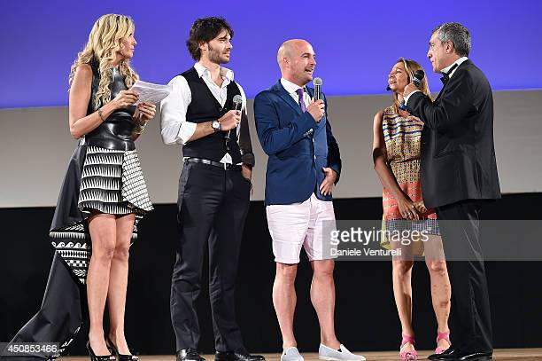 Tiziana Rocca Giulio Berruti James Richardson Gioia Smargiassi and Mario Sesti attend the 60th Taormina Film Fest on June 18 2014 in Taormina Italy