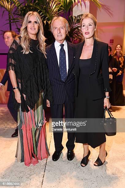 Tiziana Rocca Luca Cordero di Montezemolo and Ludovica Andreoni attend the Telethon Gala during the 11th Rome Film Fest on October 19 2016 in Rome...