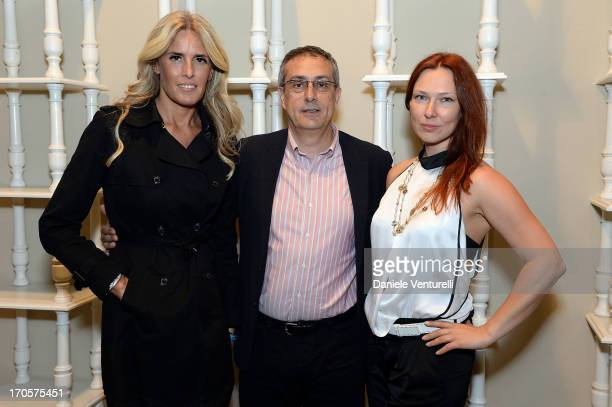 Tiziana Rocca Mario Sesti and Elena Romanova attend Sicily Outlet Village Taormina Filmfest Dinner Taormina Filmfest 2013 at Sicily Outlet Village on...