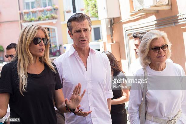 Tiziana Rocca Rupert Everett and Marina Cicogna attend Day 8 of the 61st Taormina Film Fest on June 20 2015 in Taormina Italy