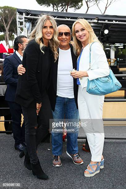 Tiziana Rocca Tony Renis and Gloria Guida attend the CocaCola anniversary party at Foro Italico on May 08 2016 in Rome