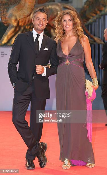 "Tiziana Rocca with her husband Giulio Base during The 63rd International Venice Film Festival - ""The Devil Wears Prada"" - Arrivals at Palazzo del..."