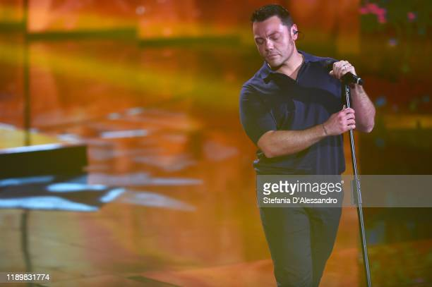 Tiziano Ferro attends Che Tempo Che Fa TV Show on November 24 2019 in Milan Italy