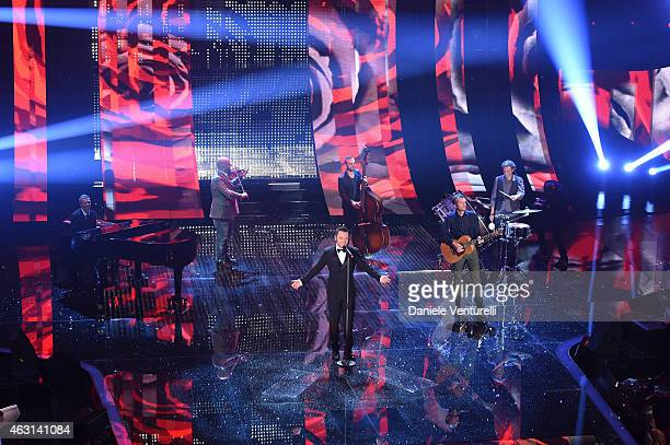 Tiziano Ferro attends the opening night of the 65th Festival di Sanremo 2015 at Teatro Ariston on February 10 2015 in Sanremo Italy
