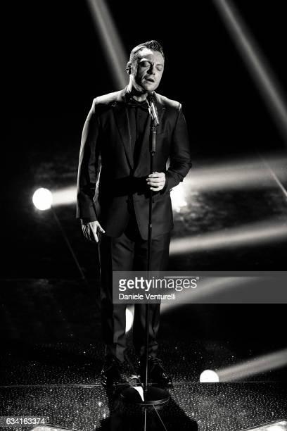 Tiziano Ferro attends the opening night of the 67th Sanremo Festival 2017 at Teatro Ariston on February 7 2017 in Sanremo Italy