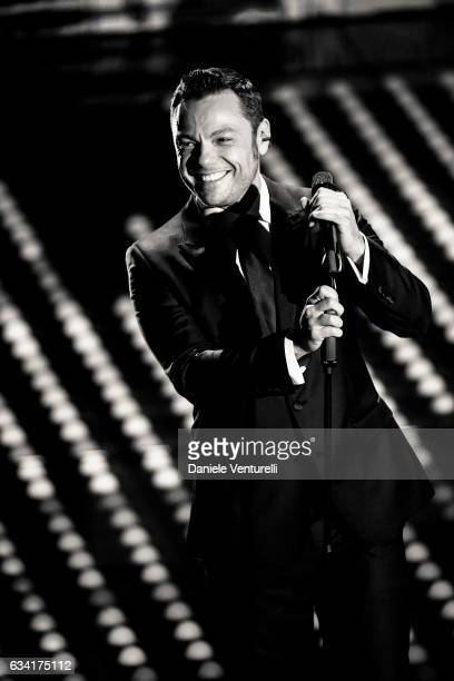 Tiziano Ferro attends the opening night of the 67th Sanremo Festival 2017 at Teatro Ariston on February 7 2017 in Sanremo Italy