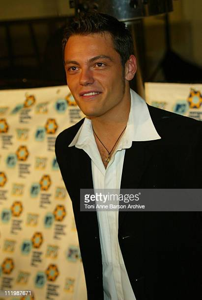 Tiziano Ferro during 2002 MTV European Music Awards Arrivals at Palau Sant Jordi in Barcelona Spain