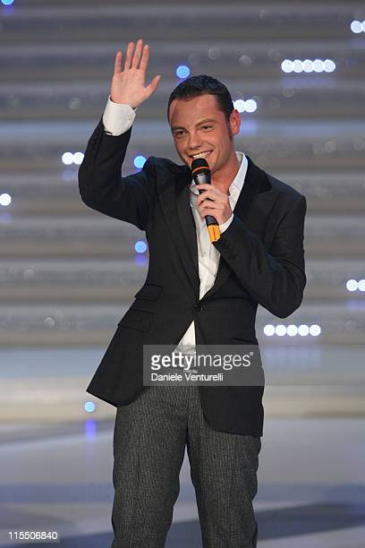 Tiziano Ferro during 2006 Miss Italy Competition in Salsomaggiore Italy