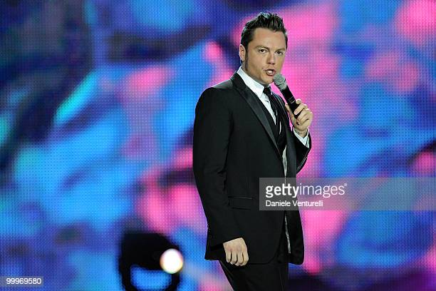 Tiziano Ferro performs on stage during the World Music Awards 2010 at the Sporting Club on May 18 2010 in Monte Carlo Monaco