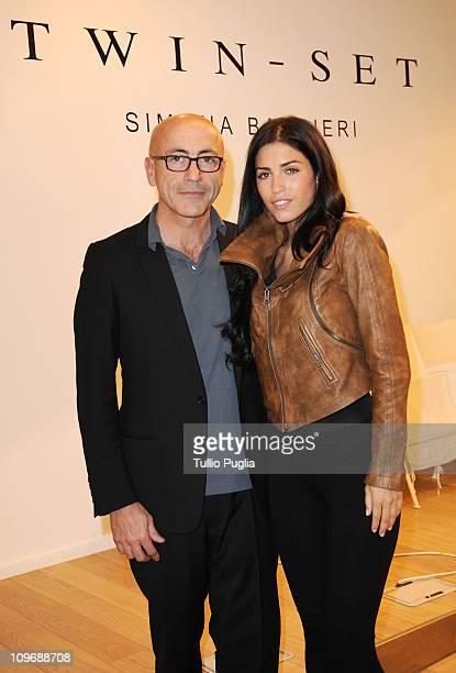 Tiziano Sgarbi and Yolanthe Sneijder Cabau visit Twin-Set store during Milan Fashion Week Womenswear Autumn/Winter 2011on February 24, 2011 in Milan,...