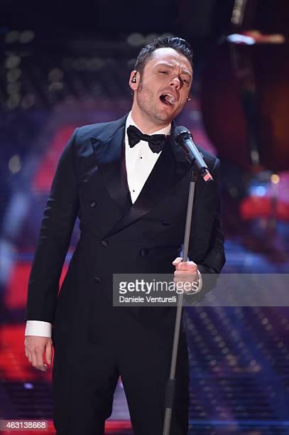 TizianoFerro attends the opening night of the 65th Festival di Sanremo 2015 at Teatro Ariston on February 10 2015 in Sanremo Italy