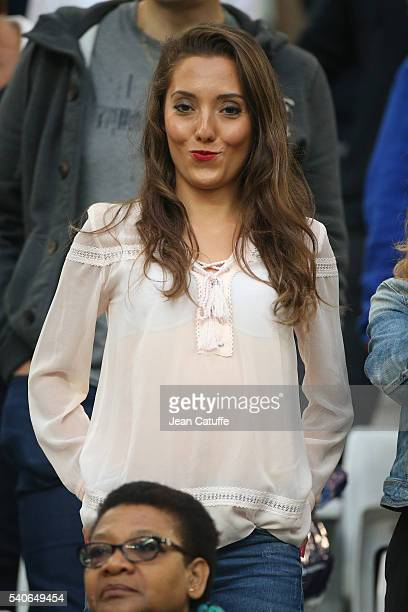 Tiziri Digne wife of Lucas Digne attends the UEFA EURO 2016 Group A match between France and Albania at Stade Velodrome on June 15 2016 in Marseille...
