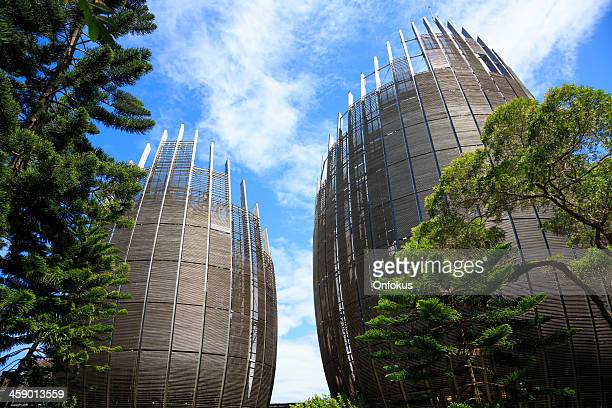 tjibaou cultural center, noumea, new caledonia - new caledonia stock photos and pictures