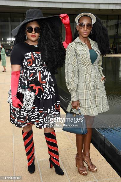 Tk Wonder and Cipriana Quan attend the Longchamp SS20 Runway Show on September 07, 2019 in New York City.