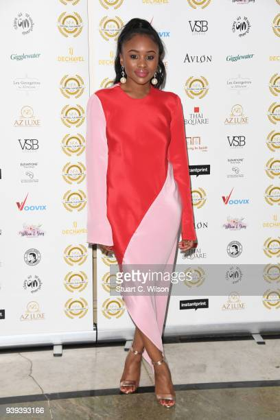 Tkya attends the National Film Awards UK at Porchester Hall on March 28 2018 in London England