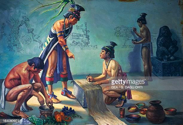 Tlacuilos Aztec painterscribes Mexico Central America 14th16th century Mexico City Museo De La Ciudad De México